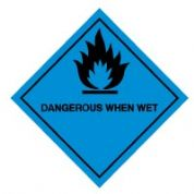 Hazard safety sign - Dangerous When Wet 010